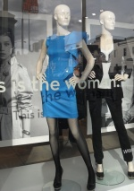 Mannequins in shop window