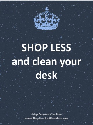 Shop Less And Live More - display images to see the postcard