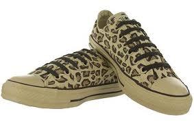 Converse animal print sneakers