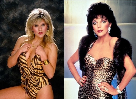 Samantha Fox and Joan Collins - the vamps