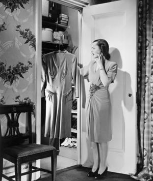woman in closet - blackandwhite