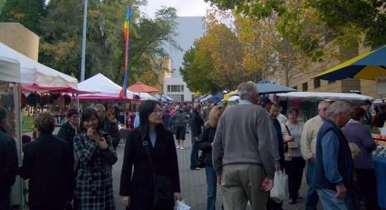 Weekend street market, Salamanca Place Hobart