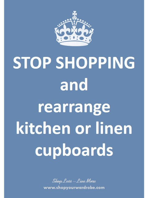 10 - rearrange kitchen-linen cupboards