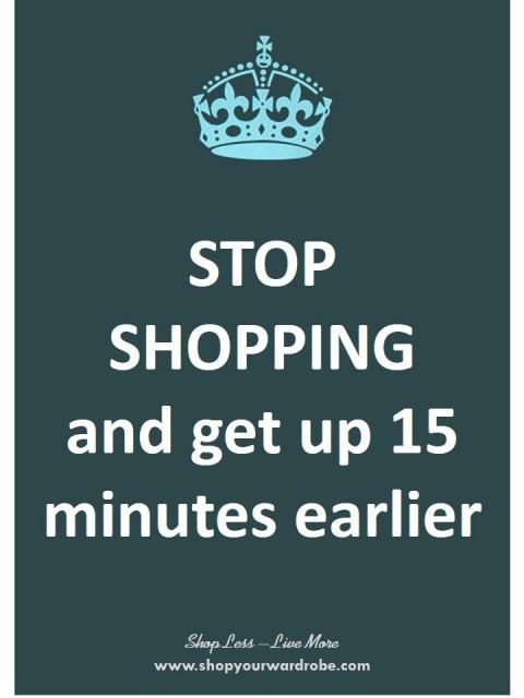 46 - get up 15 mins earlier