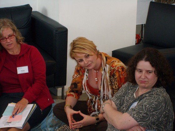 Listening during a corporate workshop debrief session