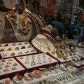 Window display - necklaces rings etc