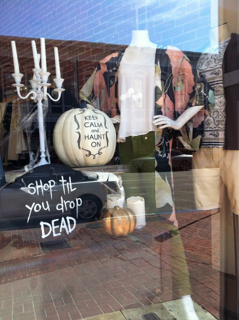 Unfortunately this is not just a Halloween inspired window display - it's possible to shop til you drop dead