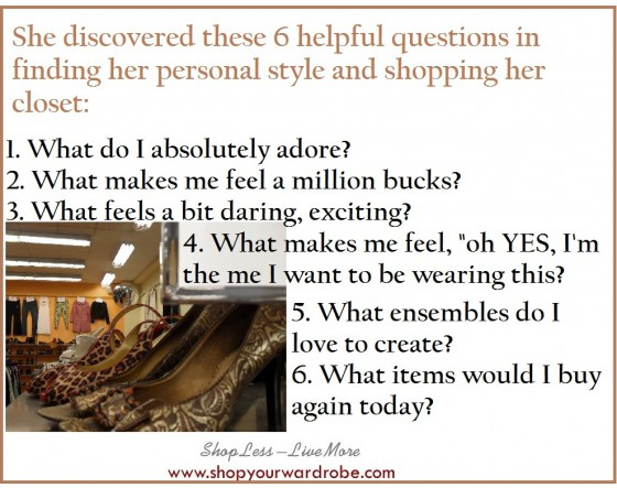 Personal style-shopping closet