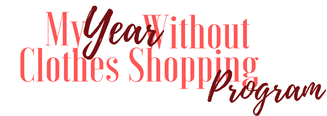 My Year Without Clothes Shopping Program